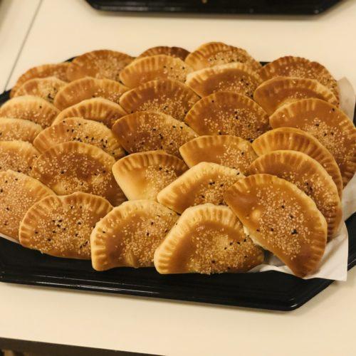 Teigtaschen mit Frischkäse (vegetarisch)